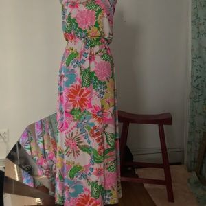 LillyPulitzer Strapless  maxi dress